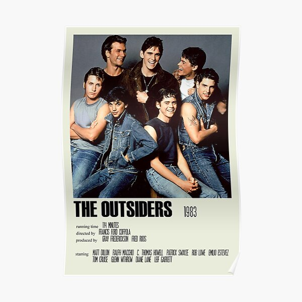 The Outsiders Alternative Poster Art Movie Large (4) Poster
