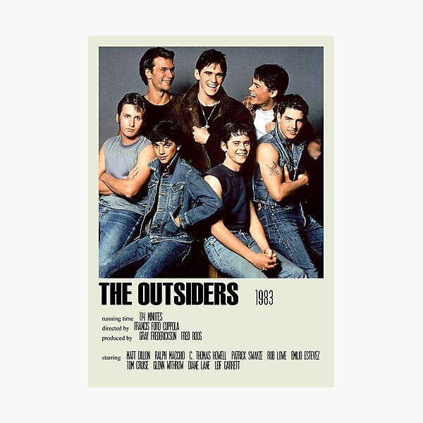 The Outsiders Alternative Poster Art Movie Large (4) Impression photo
