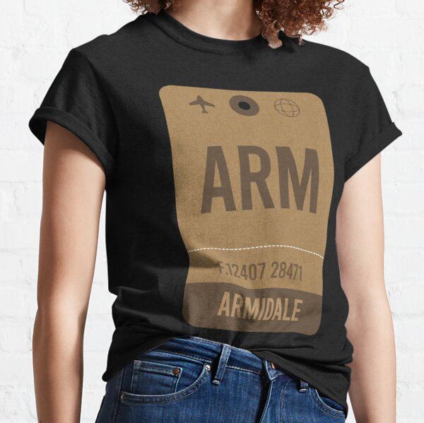 Armidale, Airport Vintage Luggage Tag Classic T-Shirt