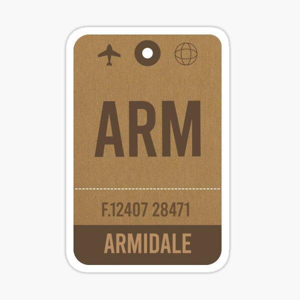 Armidale, Airport Vintage Luggage Tag Sticker