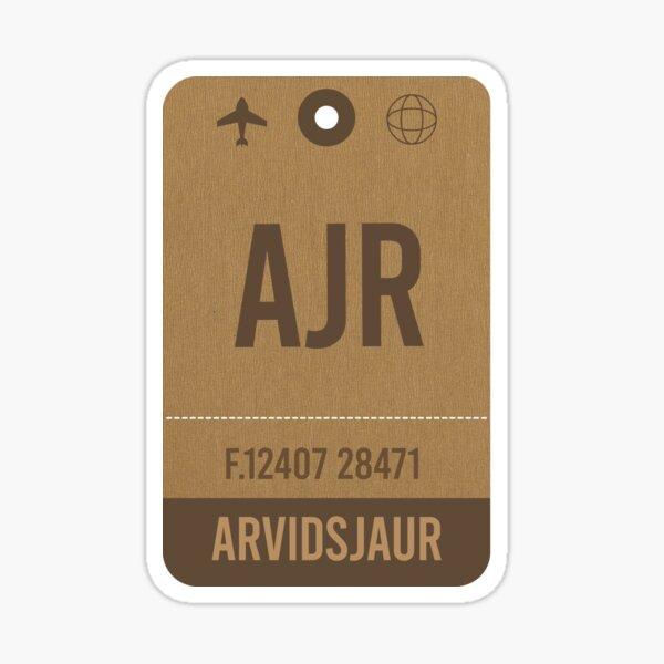 rvidsjaur, Airport Vintage Luggage Tag Sticker