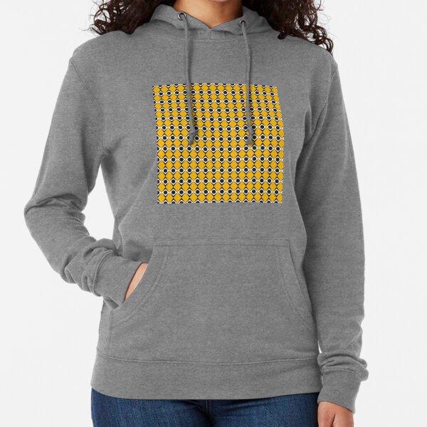 Geometric Pattern 183 (orange diamonds) Lightweight Hoodie