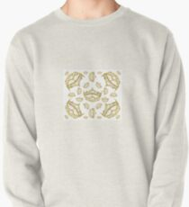 Queen of Hearts gold crown tiara tossed about by Kristie Hubler Pullover