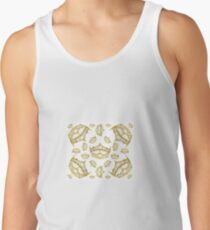 Queen of Hearts gold crown tiara tossed about by Kristie Hubler Tank Top