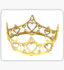 Queen of Hearts gold crown tiara by Kristie Hubler Sticker