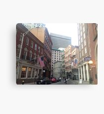 Streets of Downtown Providence  Metal Print