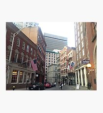 Streets of Downtown Providence  Photographic Print