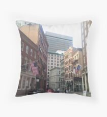 Streets of Downtown Providence  Throw Pillow