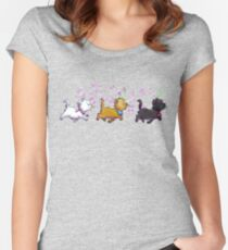 Kitten Trio Women's Fitted Scoop T-Shirt