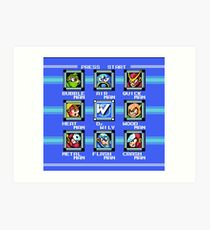 Mega Man 2 - Stage Select Art Print