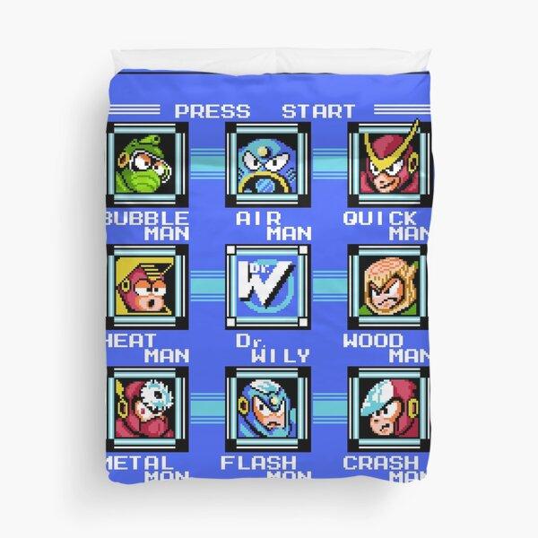 Mega Man 2 - Stage Select Duvet Cover