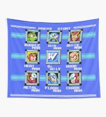 Mega Man 2 - Stage Select Wall Tapestry