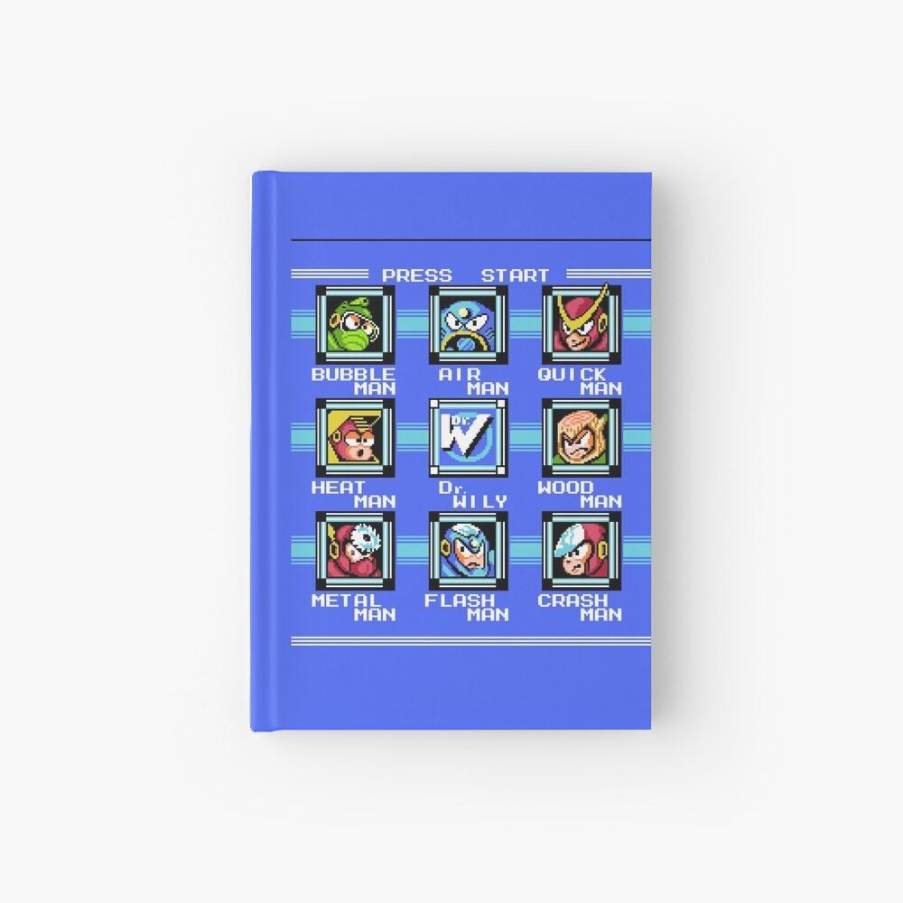 Mega Man 2 - Selección de escenario Cuaderno de tapa dura