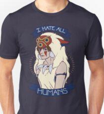Camiseta ajustada Odio a todos los humanos