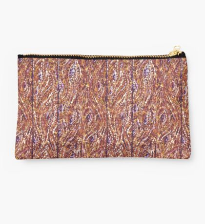 Wood Planks Pointillism by Kristie Hubler Studio Pouch