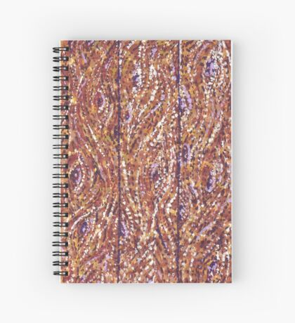 Wood Planks Pointillism by Kristie Hubler Spiral Notebook