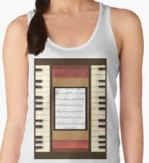 Piano keys with sheet music by Kristie Hubler Women's Tank Top
