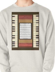 Piano keys with sheet music by Kristie Hubler Pullover