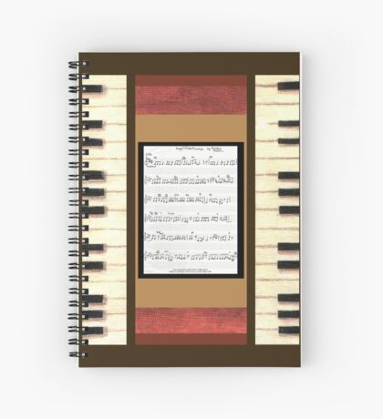 Piano keys with sheet music by Kristie Hubler Spiral Notebook