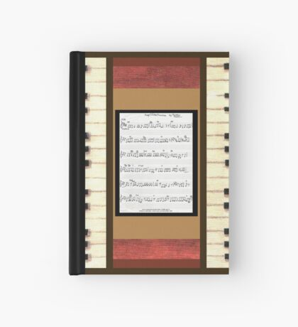 Piano keys with sheet music by Kristie Hubler Hardcover Journal