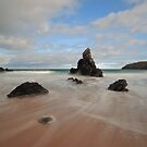 Rocks and Sand on Sango Bay by Maria Gaellman