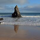 Reflections in Sand on Sango Bay by Maria Gaellman