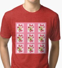 9 bunches of Pink Tulip Flowers by Kristie Hubler Tri-blend T-Shirt