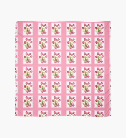 9 bunches of Pink Tulip Flowers by Kristie Hubler Scarf