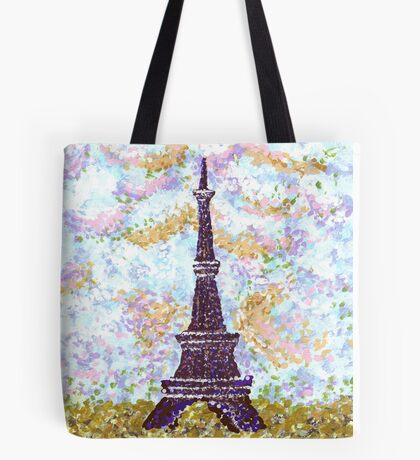 Eiffel Tower Pointillism by Kristie Hubler Tote Bag