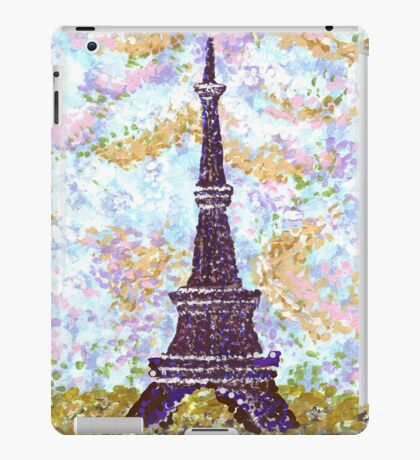 Eiffel Tower Pointillism by Kristie Hubler iPad Case/Skin