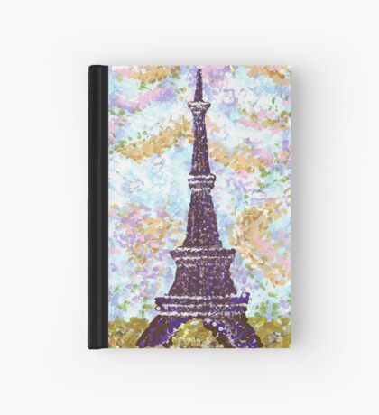 Eiffel Tower Pointillism by Kristie Hubler Hardcover Journal
