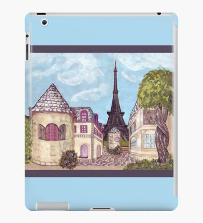 Paris Eiffel Tower inspired impressionist landscape by Kristie Hubler iPad Case/Skin