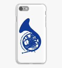 THE BLUE FRENCH HORN iPhone Case/Skin