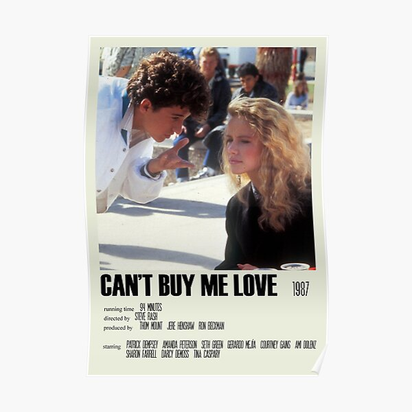 Can't Buy Me Love Alternative Poster Art Movie Large (2) Poster