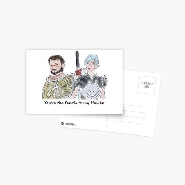 Fenris and Hawke bromance Postcard