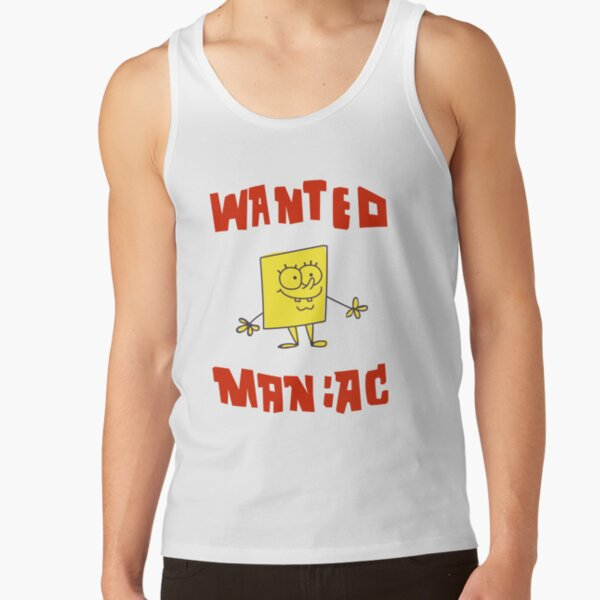 SpongeBob SquarePants Classic - Wanted Maniac Tank Top