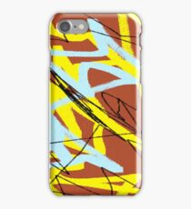 brown yellow blue iPhone Case/Skin