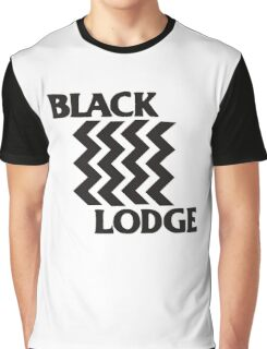Twin Peaks Black Lodge Black Flag Parody Graphic T-Shirt