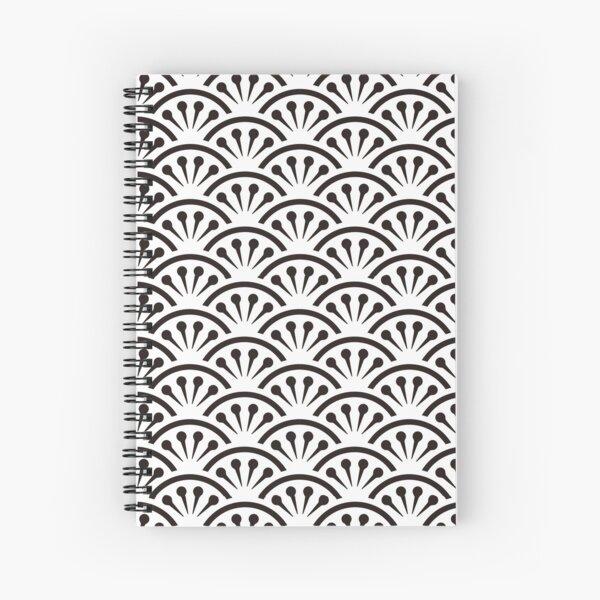 Japanese traditional pattern: Nami2 (Wave2) Spiral Notebook