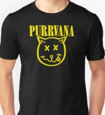 Purrvana Cat Parody T-Shirt