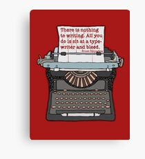 Bleed Words Canvas Print