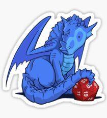 D20 Blue Dragon Sticker