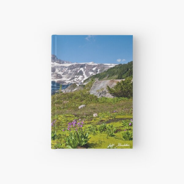 Moss and Shooting Star on the Nisqually Moraine Hardcover Journal