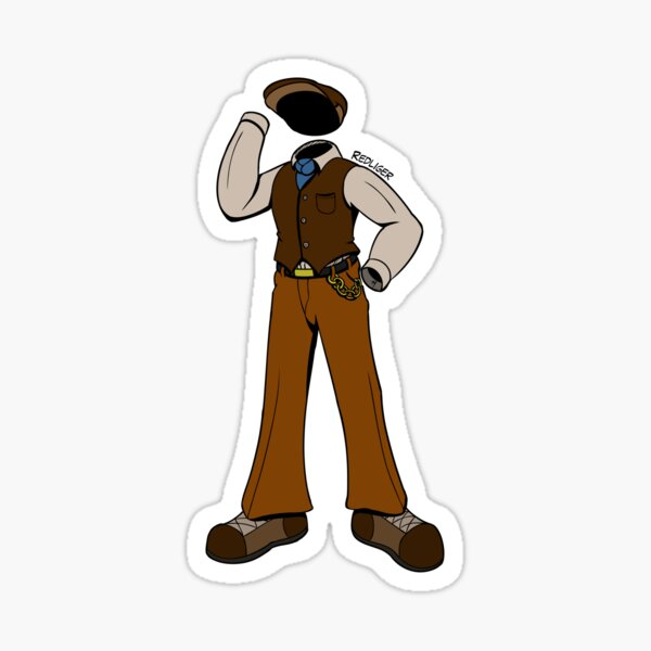 Halloween Monster Delight - Invisible Man Sticker