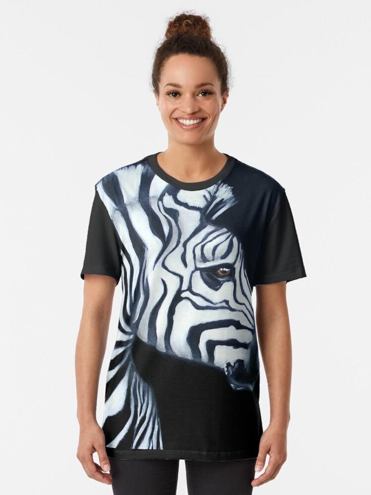 Alternate view of Zebra Profile Graphic T-Shirt