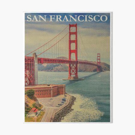 Vintage San Fransisco Travel Art Board Print