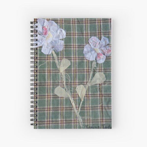 checkered flowers Spiral Notebook