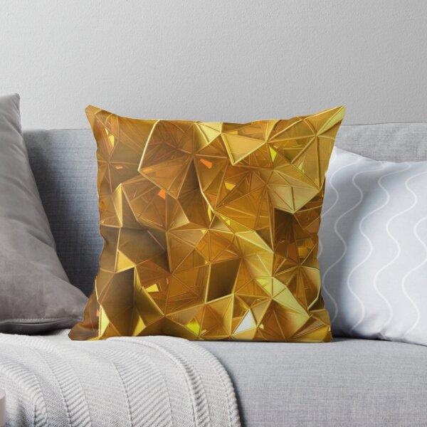3D gold Throw Pillow
