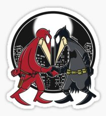 Batfleck Vs Darefleck Sticker