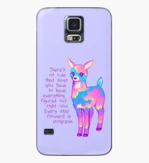 """""""Jeder Schritt vorwärts ist Fortschritt"""" Sunset Deer Hülle & Klebefolie für Samsung Galaxy"""